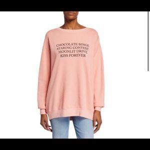 """Wildfox """"KISS Forever"""" Roadtrip Fleece Sweater M"""